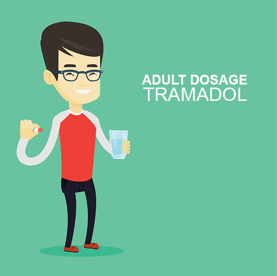 adult with Tramadol pills