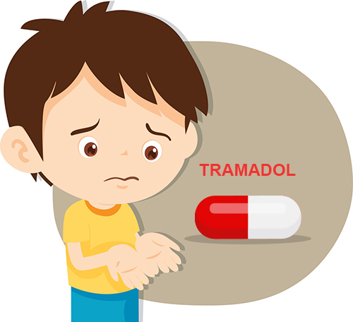 child with Tramadol pill